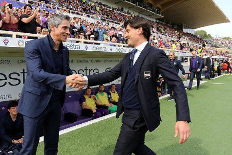 Paulo Sousa con Vincenzo Montella (©Getty Images)