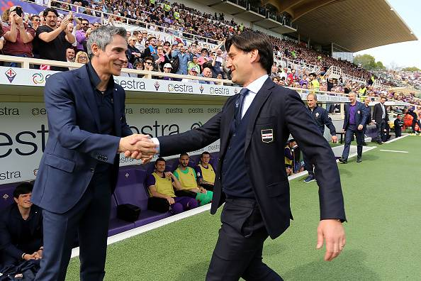 Paulo Sousa con Vincenzo Montella (©Getty Images)