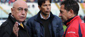 Adriano Galliani, Pablo Cosentino e Antonino Pulvirenti (©getty images)