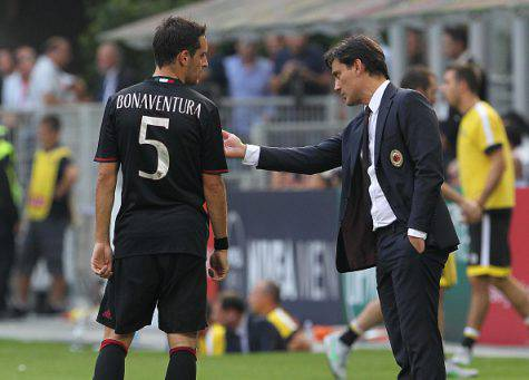 Giacomo Bonaventura e Vincenzo Montella (©Getty Images)