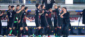 Gol Niang esultanza in Chievo-Milan