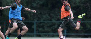 Andrea Poli e Alessio Romagnoli a Milanello