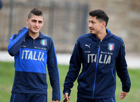 Marco Verratti e Gianluca Lapadula (©getty images)
