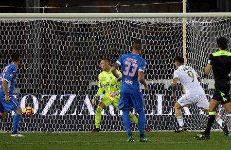 Il gol di Gianluca Lapadula (©getty images)