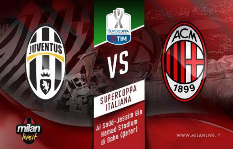 Supercoppa, Juventus-Milan: probabili formazioni, ultime notizie e programma