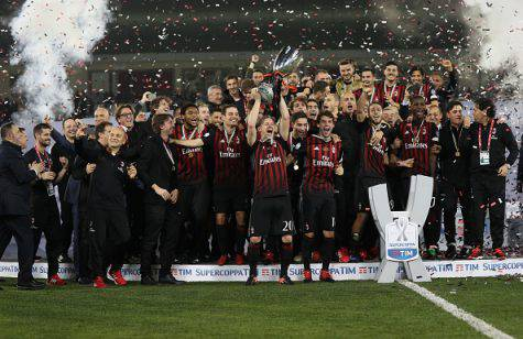 Trionfo Milan Supercoppa Italiana