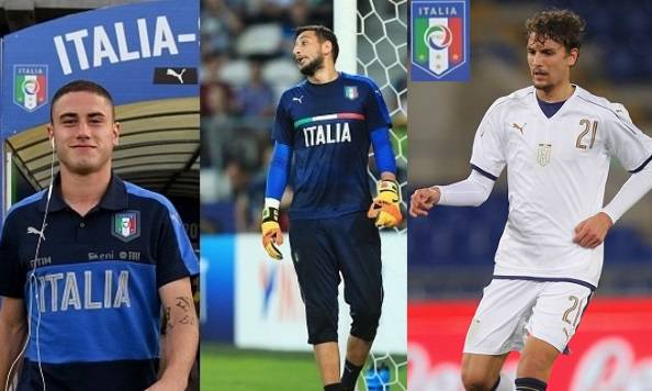 Davide Calabria Gianluigi Donnarumma Manuel Locatelli
