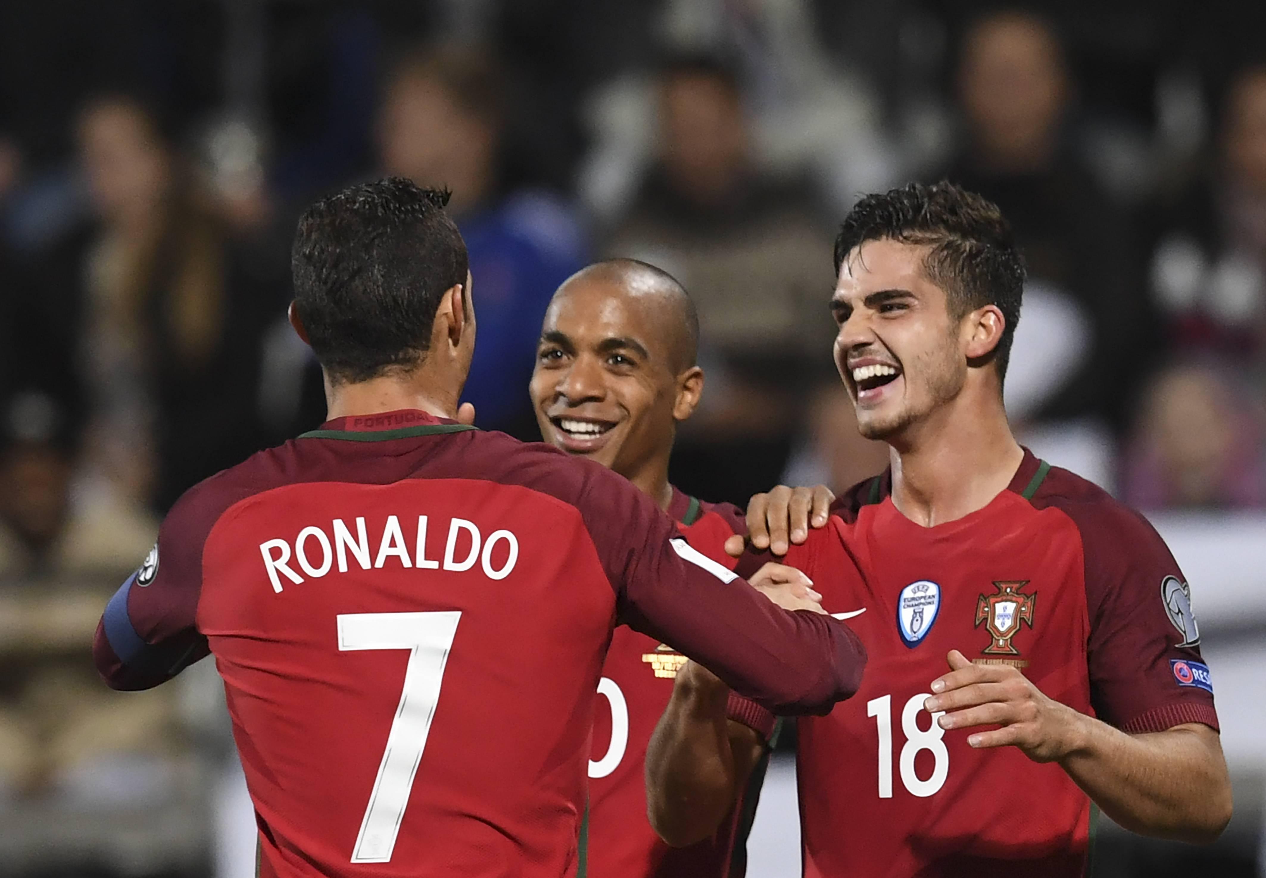 André Silva Joao Mario Cristiano Ronaldo