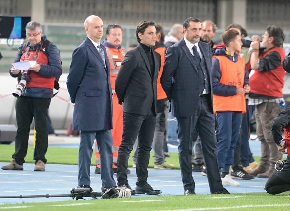 Marco Fassone Vincenzo Montella Massimiliano Mirabelli