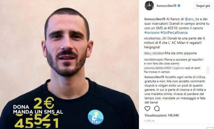 Milan, Bonucci: