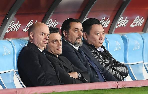 Marco Fassone Vincenzo Montella Massimiliano Mirabelli David Han Li