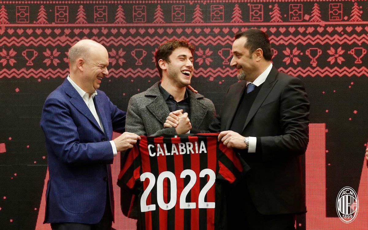 Milan, UFFICIALE: Davide Calabria ha rinnovato fino al 2022