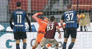 Patrick Cutrone Samir Handanovic Milan Skriniar