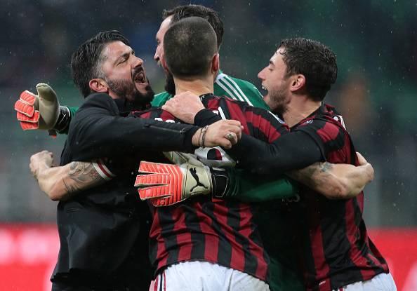 Gennaro Gattuso Antonio Donnarumma Leonardo Bonucci Davide Calabria