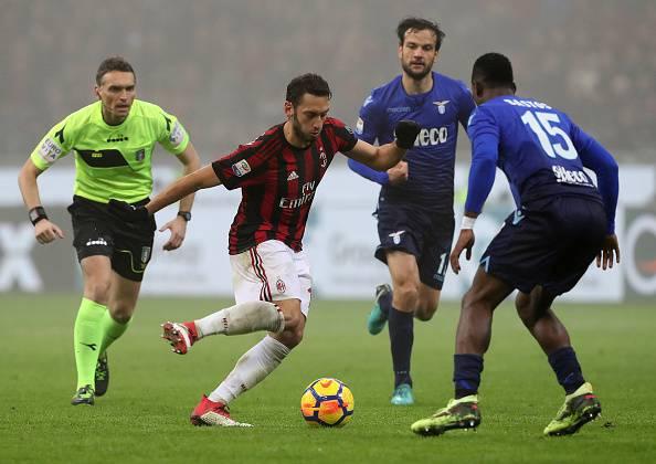 Milan-Lazio Calhanoglu Parolo