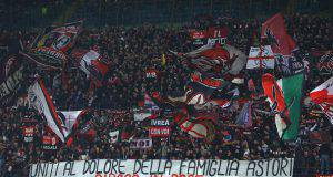 Curva Sud Milan Arsenal Astori
