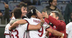 Romagnoli esulta in Genoa-Milan