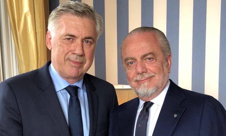 Carlo Ancelotti Aurelio De Laurentiis
