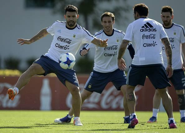 Sergio Aguero Lucas Biglia Ezequiel Lavezzi Lionel Messi