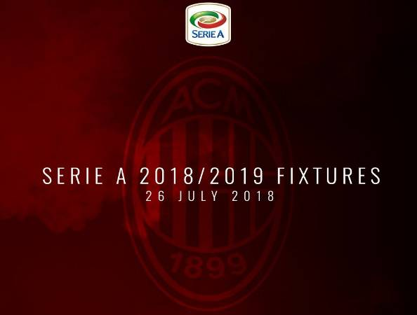 Calendario Ac Milan.Serie A Calendario Completo 2018 2019 Milan Genoa Alla 1ª
