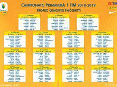 Calendario campionato Primavera Serie A
