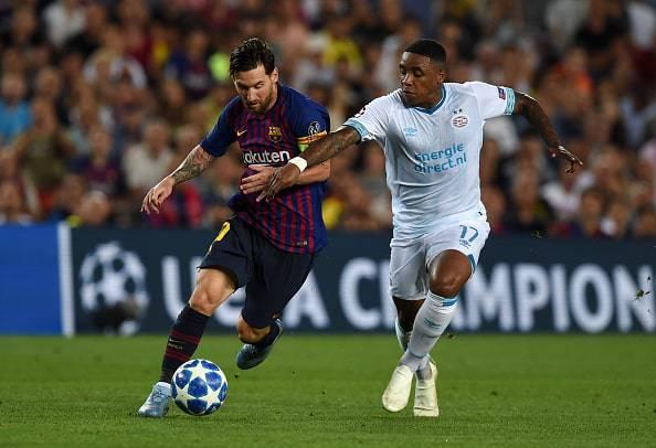 Steven Bergwijn Lionel Messi