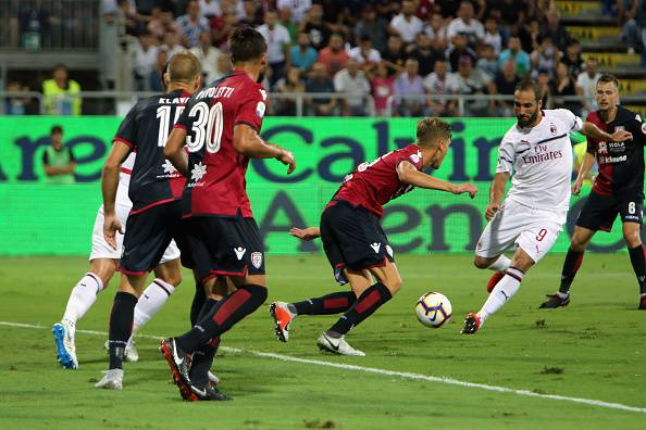 Gonzalo Higuain Cagliari-Milan