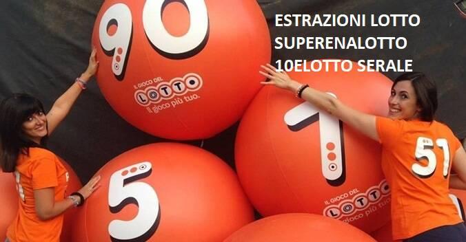 estrazioni-lotto-superenalotto-10elotto-serale-sabato 3 novembre-2018