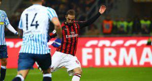 gol Higuain Milan-Spal