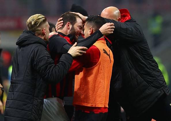 Gonzalo Higuain Milan-Spal
