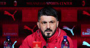 Gennaro Gattuso conferenza stampa Milan Milanello