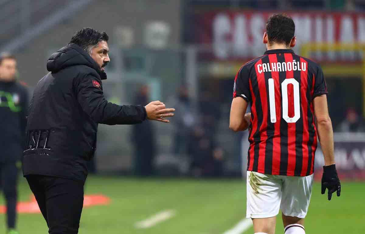 Gennaro Gattuso Hakan Clahanoglu