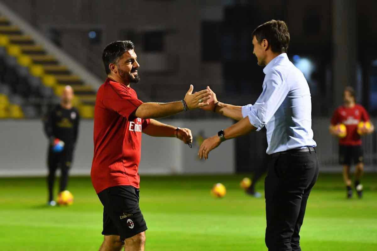 Gennaro Gattuso e Paolo Maldini