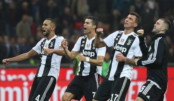Mehdi Benatia Cristiano Ronaldo Mario Mandzukic Miralem Pjanic