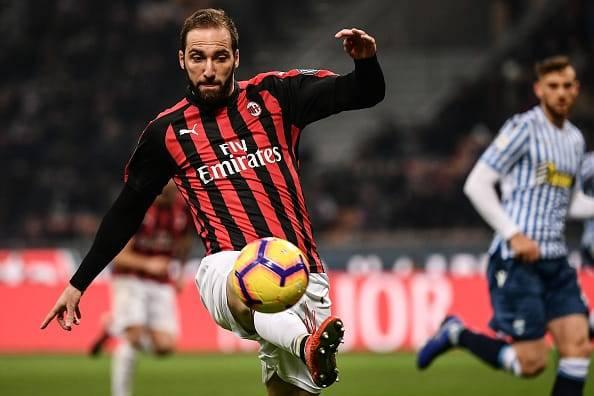 Gonzalo Higuain Milan spal
