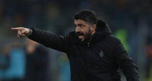 Gennaro Gattuso Roma-Milan 1-1