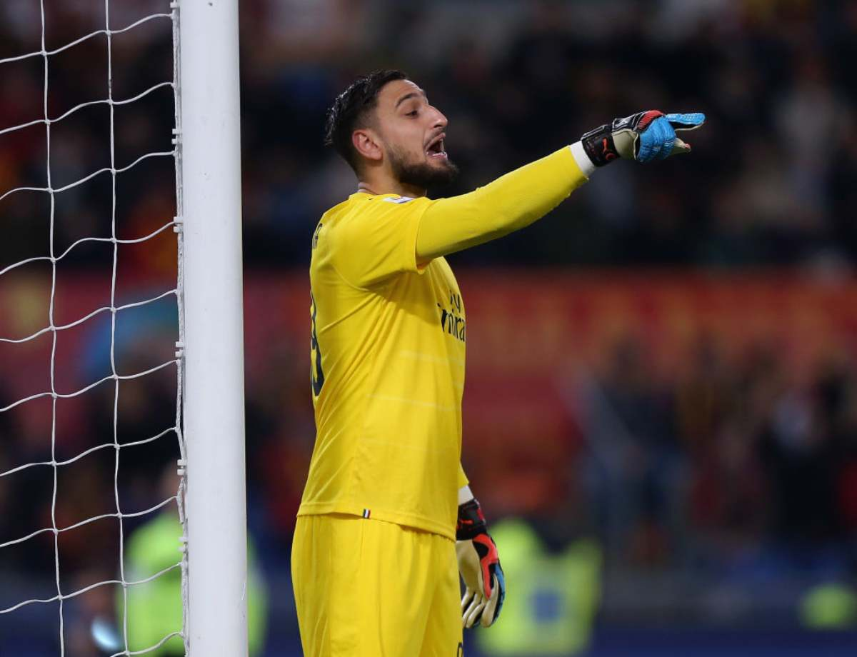 Gianluigi Donnarumma in Roma-Milan
