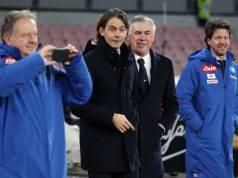 Filippo Inzaghi e Carlo Ancelotti