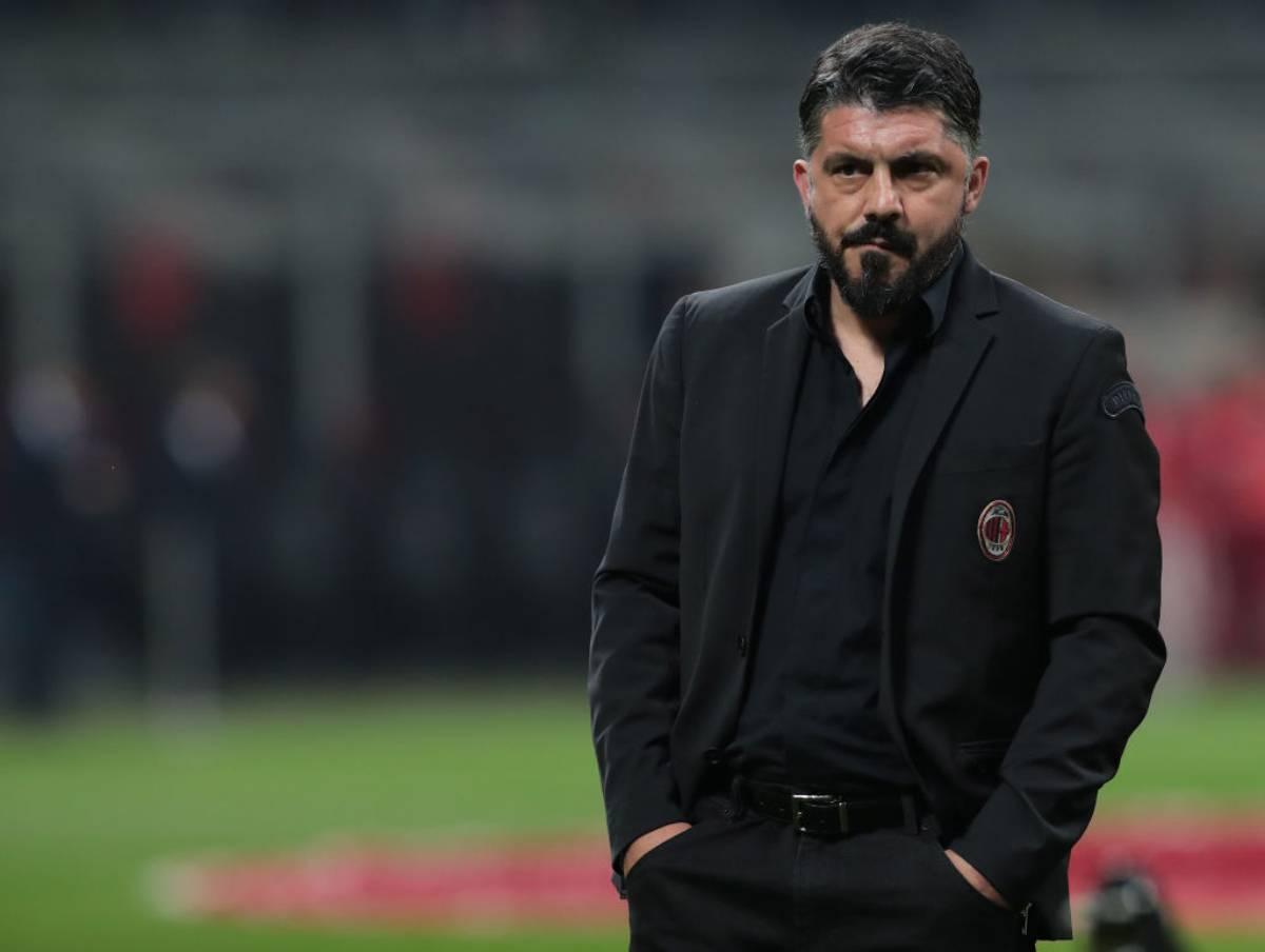 Gennaro Gattuso durante Milan-Inter