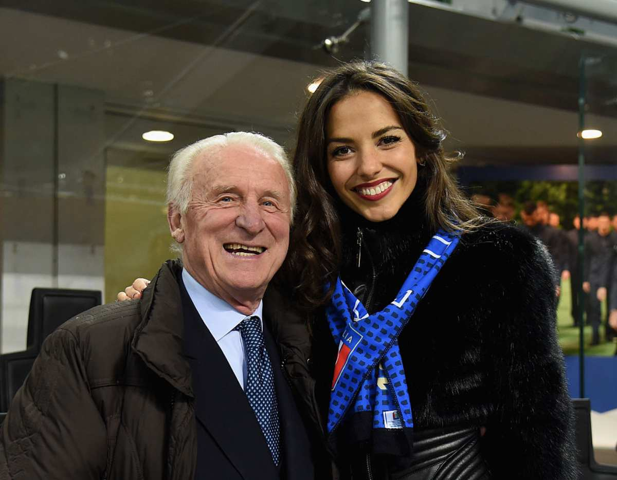 Giovanni Trapattoni e Laura Barriales