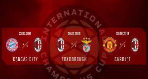 Calendario Milan International Champions Cup 2019