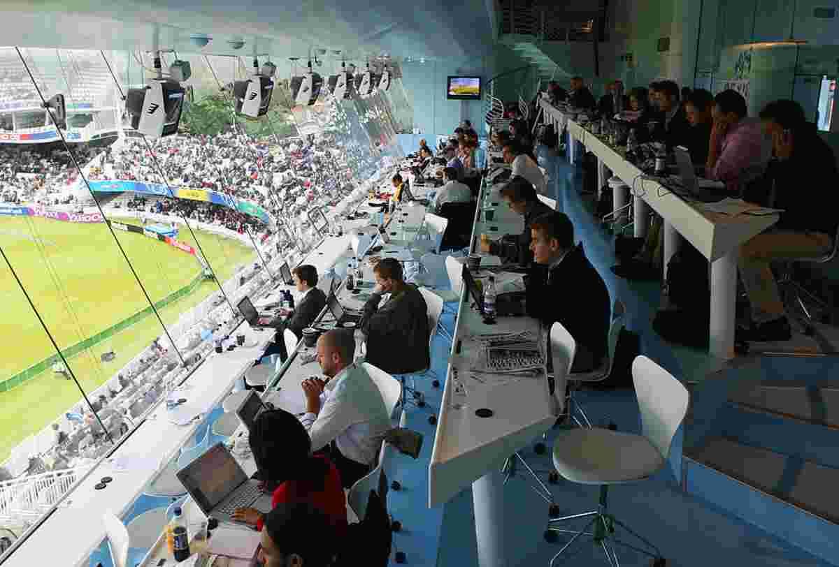 Tribuna stampa stadio