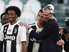 Allegri festeggia con Ronaldo