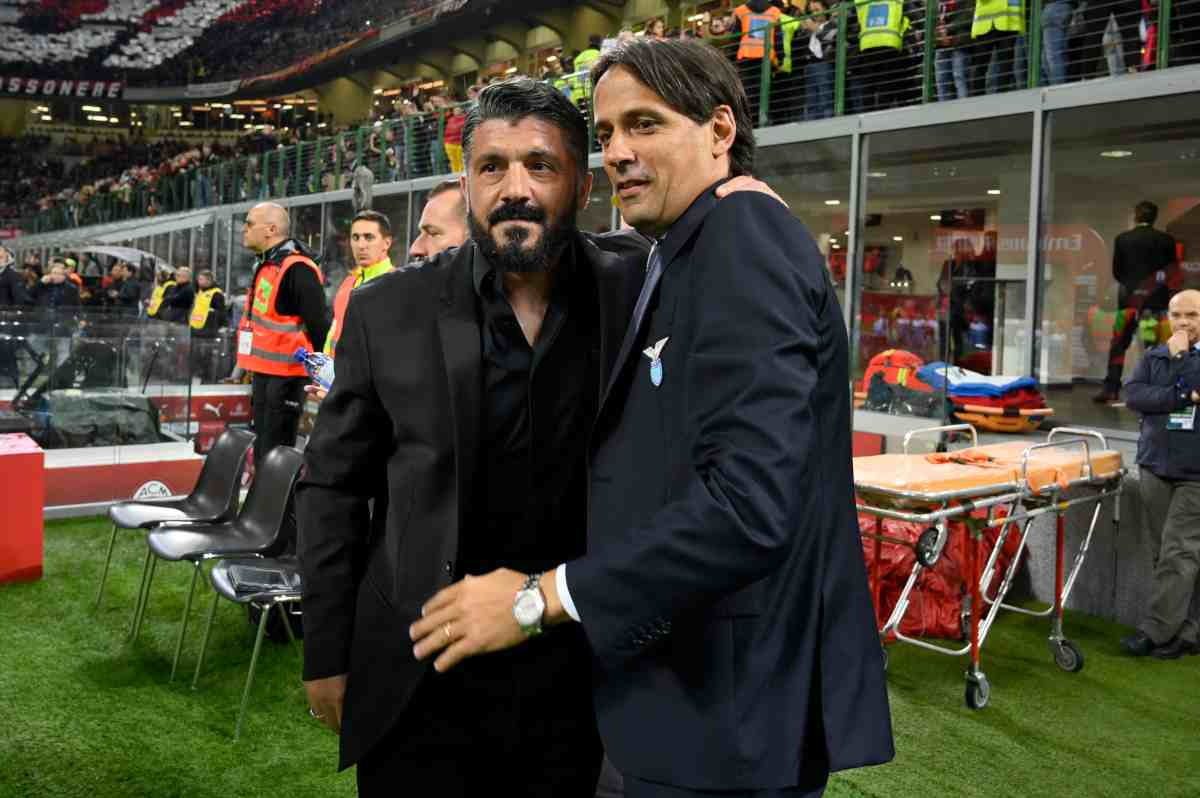 Gennaro Gattuso Simone Inzaghi Milan Lazio