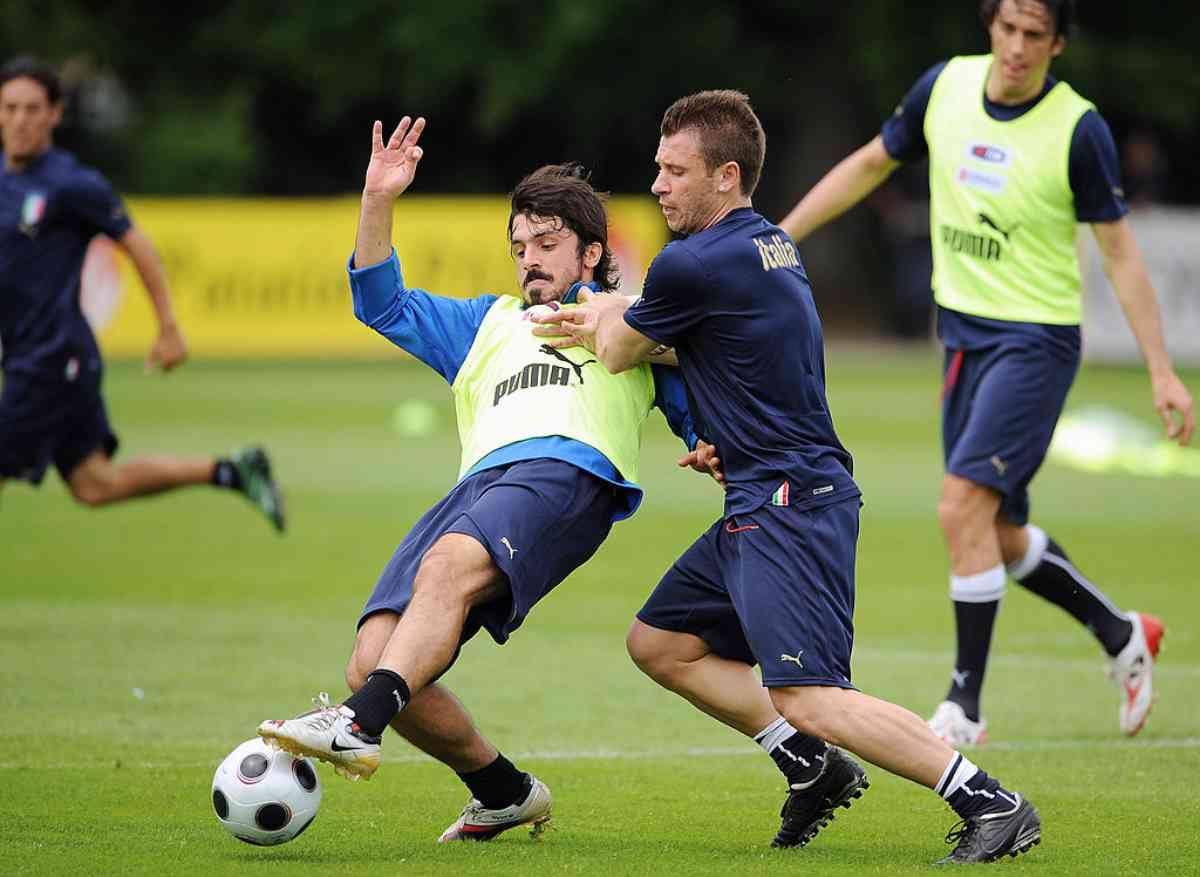 Gattuso e Cassano in Nazionale