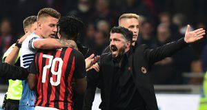 Gattuso placa Kessie nella rissa Milan-Lazio
