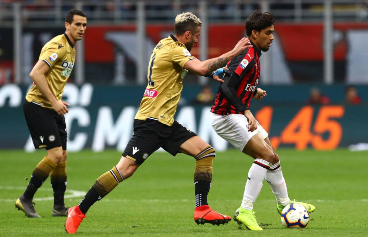 Lucas Paquetà in Milan-Udinese