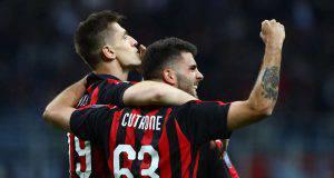 Piatek Cutrone Milan Udinese
