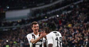 Mario Mandzukic Moise Kean Juventus Milan