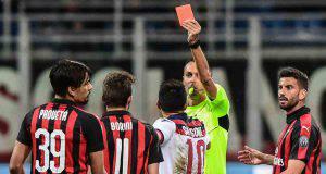 Lucas Paquetà espulso arbitro Di Bello Milan Bologna